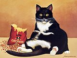 Lowell Herrero American Cat Art Paintings 11 pics